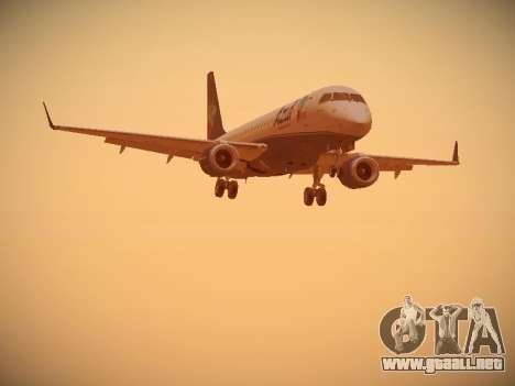Embraer E190 Azul Brazilian Airlines para GTA San Andreas vista posterior izquierda