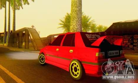 Dacia Super Nova Tuning para GTA San Andreas vista posterior izquierda