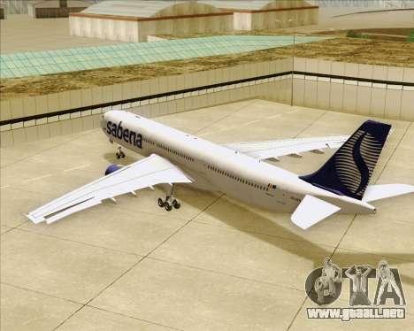 Airbus A330-300 Sabena para las ruedas de GTA San Andreas