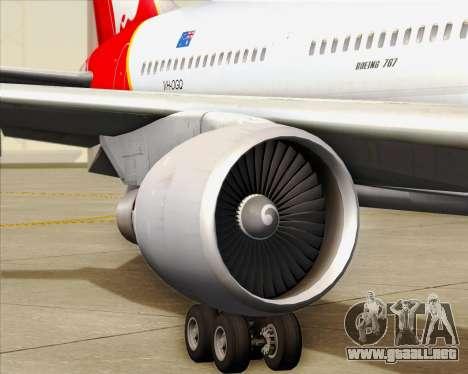 Boeing 767-300ER Qantas para las ruedas de GTA San Andreas