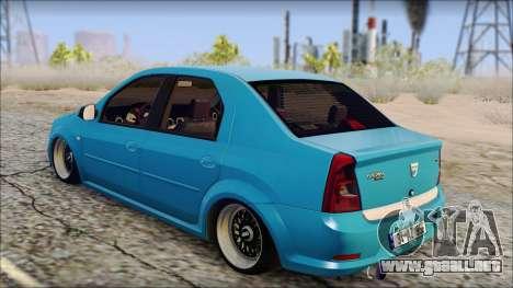 Dacia Logan BS GARAGE para GTA San Andreas left