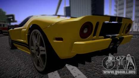 Ford GT 2005 Road version para GTA San Andreas vista posterior izquierda