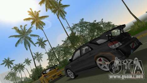 Subaru Impreza WRX STI 2006 Type 3 para GTA Vice City vista lateral