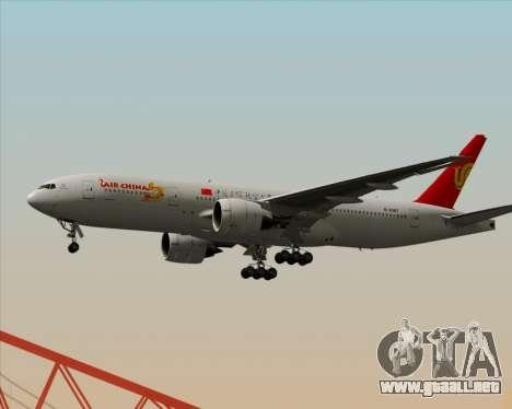 Boeing 777-200ER Air China para GTA San Andreas vista posterior izquierda