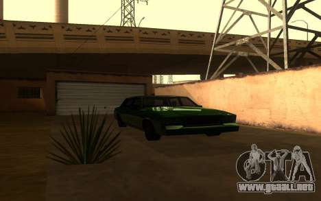 Tahoma Restyle para GTA San Andreas vista posterior izquierda
