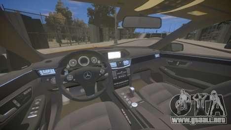 Mercedes-Benz E63 AMG для GTA 4 para GTA 4 vista interior