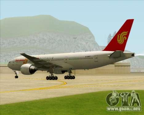Boeing 777-200ER Air China para vista inferior GTA San Andreas