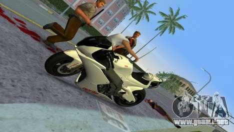 Aprilia RSV4 2009 White Edition II para GTA Vice City vista posterior