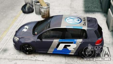 Volkswagen Golf R 2010 Polo WRC Style PJ2 para GTA 4 Vista posterior izquierda