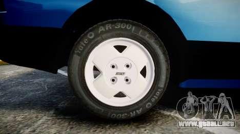 Fiat 147 Spazio-TR para GTA 4 vista hacia atrás