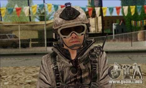 Task Force 141 (CoD: MW 2) Skin 5 para GTA San Andreas tercera pantalla