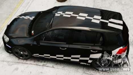 Volkswagen Golf R 2010 MTM Paintjob para GTA 4 Vista posterior izquierda