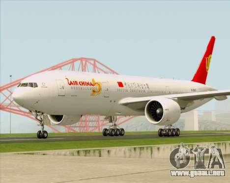 Boeing 777-200ER Air China para visión interna GTA San Andreas