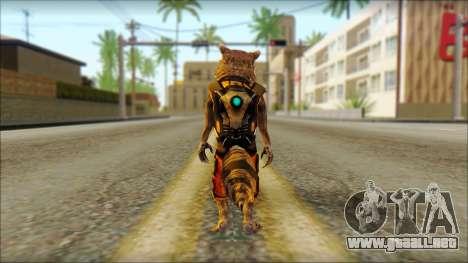 Guardians of the Galaxy Rocket Raccoon v2 para GTA San Andreas segunda pantalla