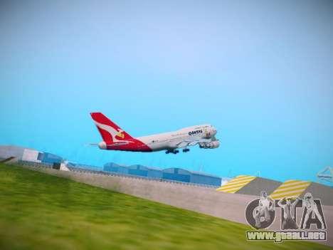 Boeing 747-438 Qantas Boxing Kangaroo para la visión correcta GTA San Andreas