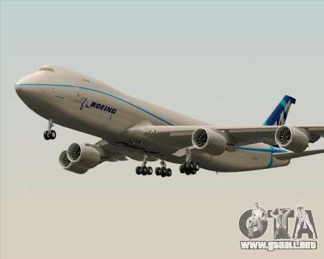 Boeing 747-8 Cargo House Livery para GTA San Andreas vista posterior izquierda