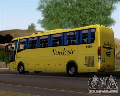 Busscar Elegance 360 Viacao Nordeste 8070 para GTA San Andreas left