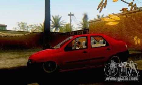 Fiat Siena 1998 para GTA San Andreas vista posterior izquierda