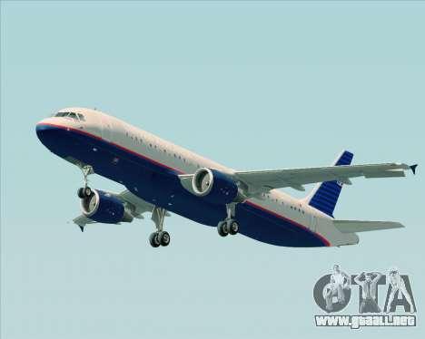 Airbus A320-232 United Airlines (Old Livery) para las ruedas de GTA San Andreas