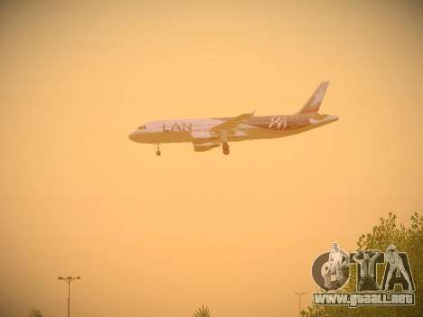 Airbus A320-214 LAN Airlines 80 Years para las ruedas de GTA San Andreas
