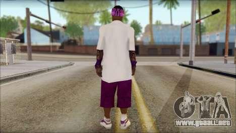 East Side Ballas Skin 1 para GTA San Andreas segunda pantalla
