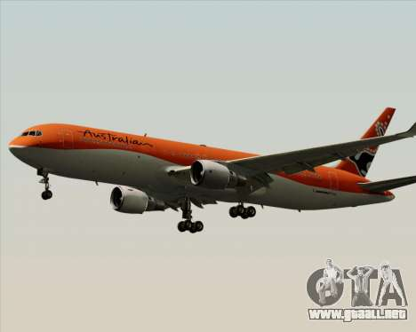 Boeing 767-300ER Australian Airlines para GTA San Andreas vista hacia atrás