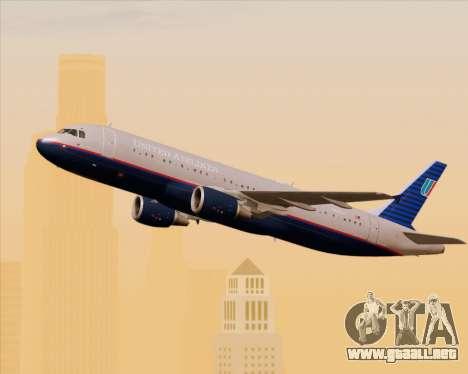Airbus A320-232 United Airlines (Old Livery) para visión interna GTA San Andreas