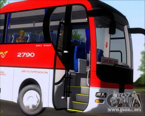 MAN Lion Coach Rural Tours 2790 para la vista superior GTA San Andreas
