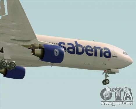 Airbus A330-300 Sabena para la vista superior GTA San Andreas