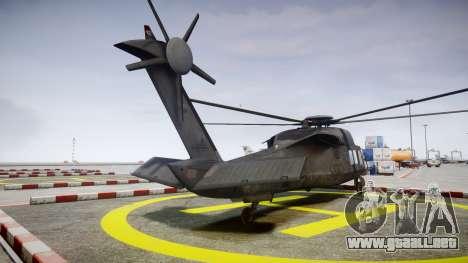 Sikorsky MH-X Silent Hawk [EPM] v2.0 para GTA 4 Vista posterior izquierda