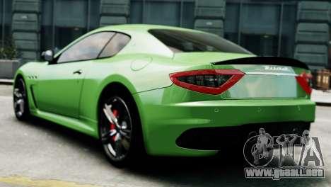 Maserati Gran Turismo MC Stradale 2014 para GTA 4 left