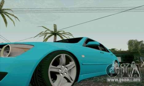 Toyota Altezza para vista lateral GTA San Andreas