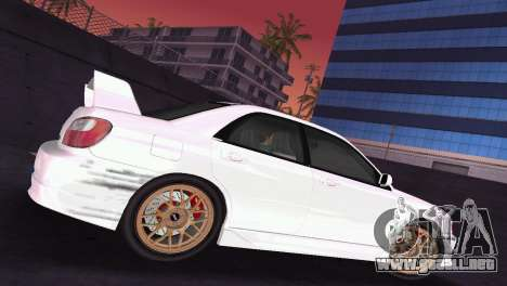 Subaru Impreza WRX 2002 Type 2 para GTA Vice City vista interior
