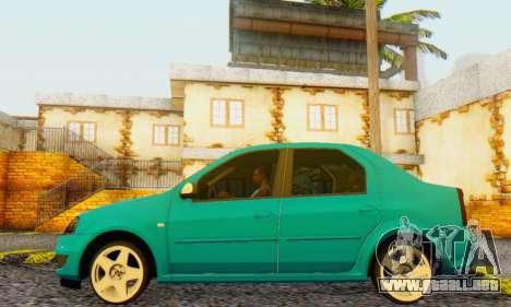 Dacia Logan Delta Garage para la visión correcta GTA San Andreas
