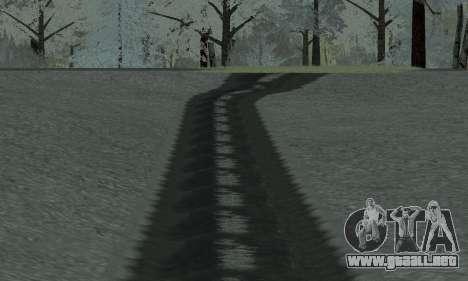 Nieve para GTA Penal de Rusia beta 2 para GTA San Andreas sexta pantalla
