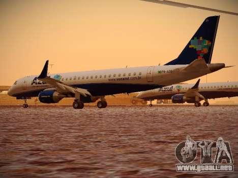 Embraer E190 Azul Brazilian Airlines para la visión correcta GTA San Andreas