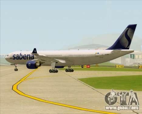 Airbus A330-300 Sabena para GTA San Andreas vista hacia atrás