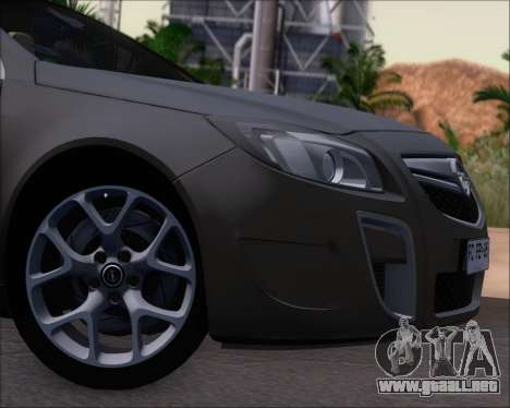 Opel Insignia OPC para visión interna GTA San Andreas