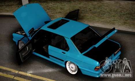 BMW M5 E28 para vista inferior GTA San Andreas