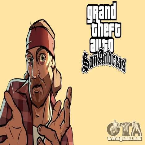 HD la pantalla de carga y menú para GTA San Andreas