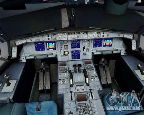 Airbus A340-313 Air France (New Livery) para la vista superior GTA San Andreas