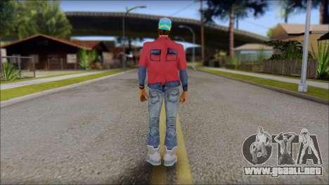 Marty from Back to the Future 2015 para GTA San Andreas segunda pantalla