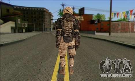 Task Force 141 (CoD: MW 2) Skin 15 para GTA San Andreas segunda pantalla
