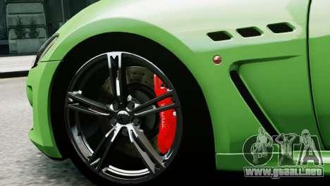 Maserati Gran Turismo MC Stradale 2014 para GTA 4 Vista posterior izquierda