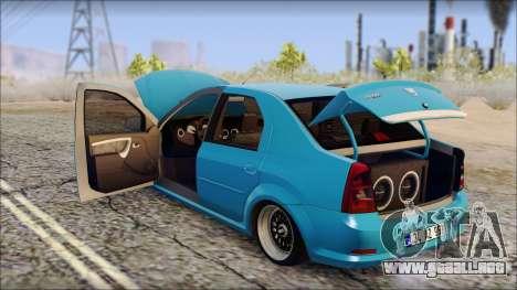 Dacia Logan BS GARAGE para la visión correcta GTA San Andreas