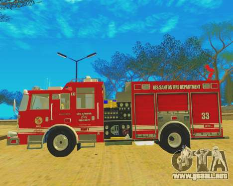 Pierce Arrow XT 2008 Los Santos Fire Department para la visión correcta GTA San Andreas
