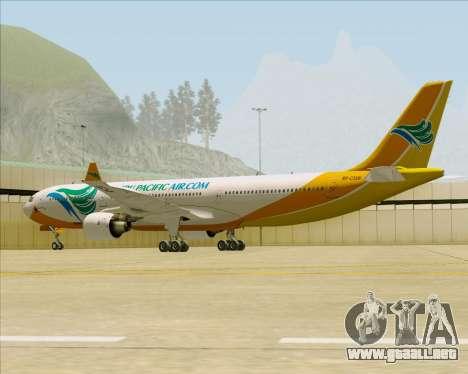 Airbus A330-300 Cebu Pacific Air para GTA San Andreas vista hacia atrás