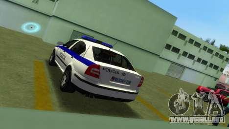 Skoda Octavia Albanian Police Car para GTA Vice City vista posterior