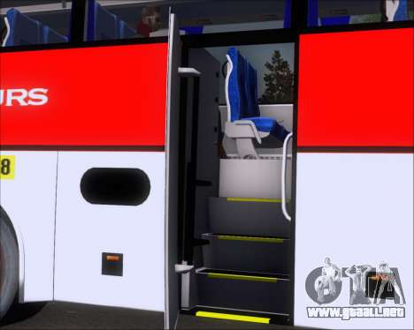 MAN Lion Coach Rural Tours 2790 para vista lateral GTA San Andreas