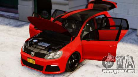 Volkswagen Golf R 2010 Racing Stripes Paintjob para GTA 4 visión correcta
